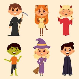 Joyeux personnage de monstre d'halloween pour roman et histoire