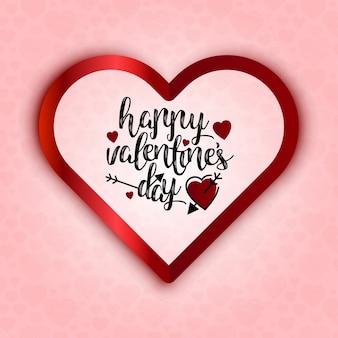 Joyeux saint-valentin cœur rougeoyant