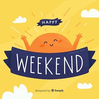 Joyeux soleil voeux week-end