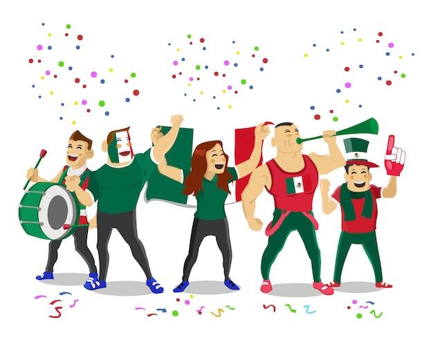 Joyeux supporters de l'équipe nationale de football du portugal