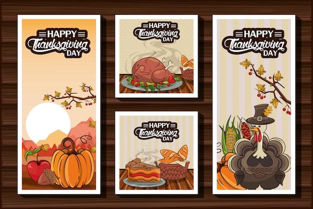 Joyeux thanksgiving bundle de cartes