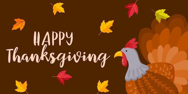 Joyeux thanksgiving day événement typographie texte automne automne saison affiche, bannière, logo, insigne, étiquette, autocollant, carte de voeux
