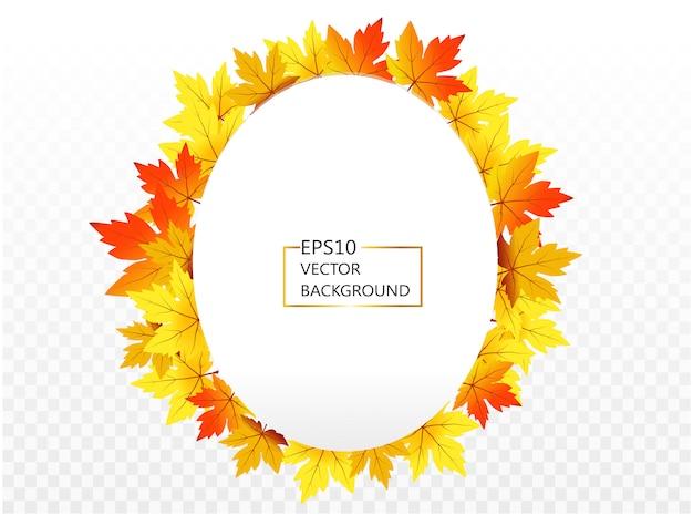 Joyeux thanksgiving avec texte d'accueil et feuilles d'automne. photo de décor de couronne de feuilles d'érable