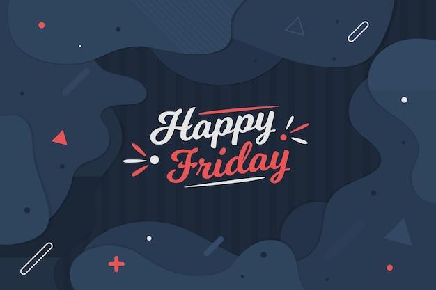 Joyeux vendredi fond sombre