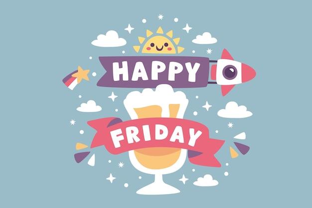 Joyeux vendredi fond