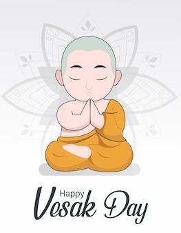 Joyeux vesak budha purnima day vector background