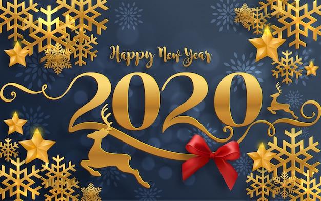joyeux voeux de no l et mod les de bonne ann e 2020 avec. Black Bedroom Furniture Sets. Home Design Ideas