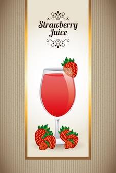 Juiice fraise sur beige