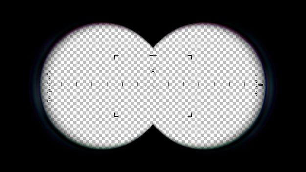 Jumelles cadre pov viseur de visée binoculaire superposition de vue espion