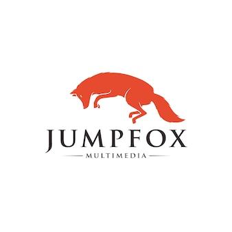 Jumping fox logo