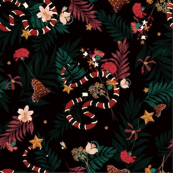Jungle seamless pattern vector