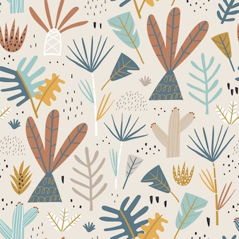 Jungle seamless pattern.