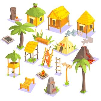 Jungle tribal living houses et autres objets