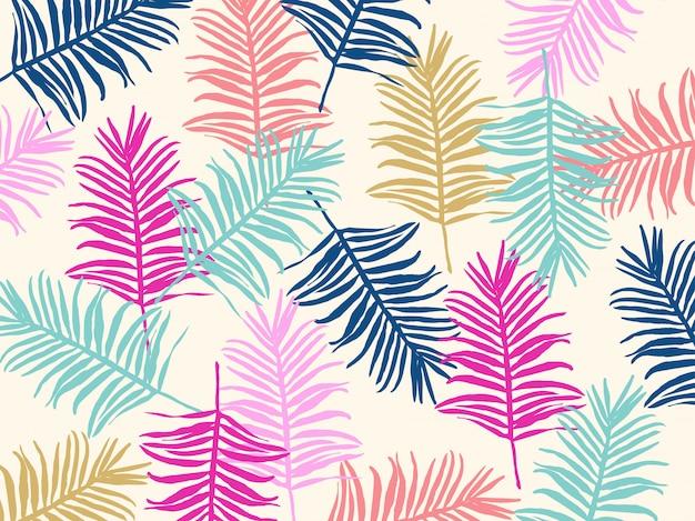 Jungle tropicale feuilles sans soudure de fond