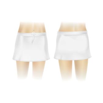Jupe blanche pour femme
