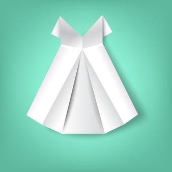 Jupe papier plié
