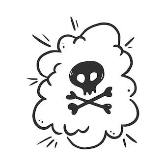 Jure parole bulle. malédiction, grossier, jurons pour une expression en colère, mauvaise et négative. style de croquis de doodle dessinés à la main. illustration vectorielle isolée sur fond blanc.
