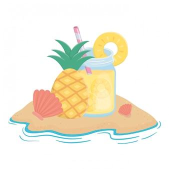 Jus de jus d'ananas