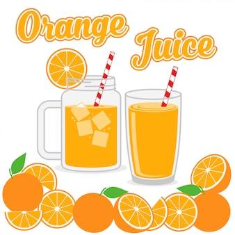 Jus d'orange design vector illustration de fond