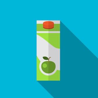 Jus de pomme plat icône illustration isolé vecteur signe symbole