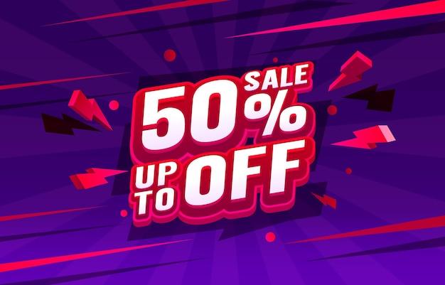 Jusqu'à 50 de réduction sur la promotion de la bannière de vente