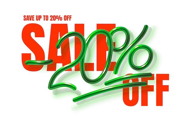 Jusqu'à off vente bannière promotion flyer marketing label vecteur