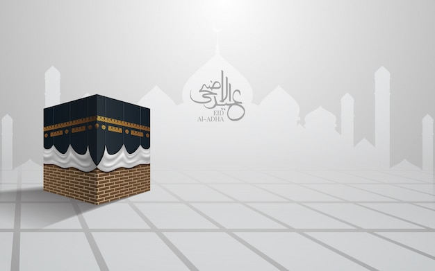 Kaaba pour hajj mabroor à la mecque en arabie saoudite, eid adha mubarak.