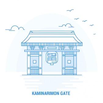 Kaminarimon gate blue landmark