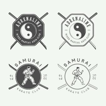 Karaté ou logo d'arts martiaux