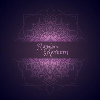 Kareem ramadan salutation avec motif de mandala