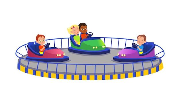 Karting avec des voitureselectro ar pour les enfants avec des flammes voiture électrique de divertissement de parc d'attractions
