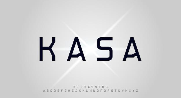 Kasa une police d'affichage moderne carrée arrondie