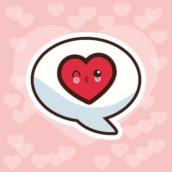 Kawaii amour bulle discours