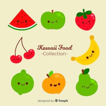 Kawaii souriant paquet de nourriture fraîche