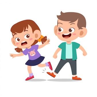 Kid bully ami mauvais comportement pas bon