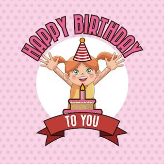 Kid carte de joyeux anniversaire