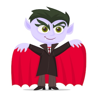 Kid habillé comme un vampire