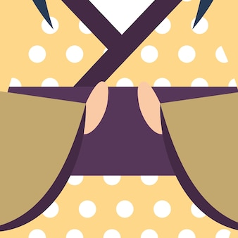 Kimono japonais de poupée kokeshi