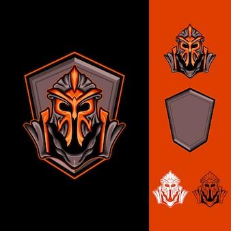 King armored: logo jeu de sport électronique
