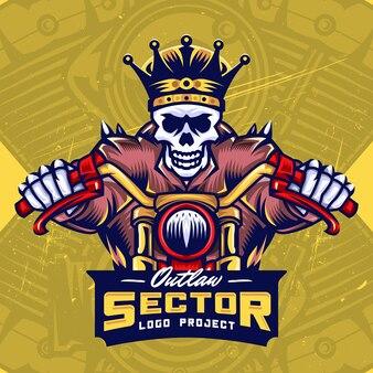 King skull bikers esport création de logo