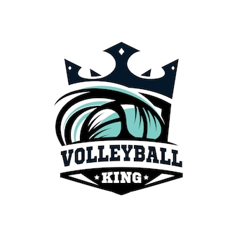 King volleyball logo