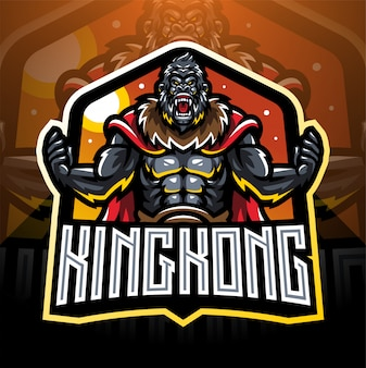 Kingkong esport mascotte logo desain