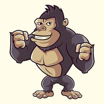 Kingkong gorilla monkey cartoon mignon