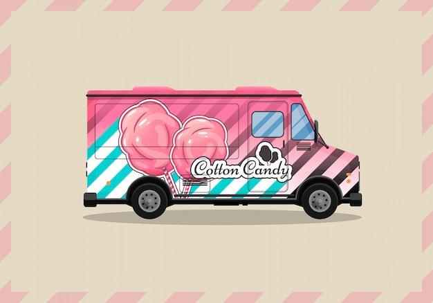 Kiosque cotton candy sur roues