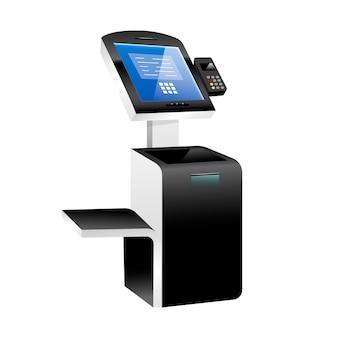 Kiosque libre service avec terminal