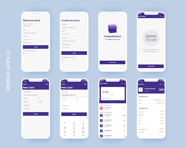 Kit d'application mobile finance