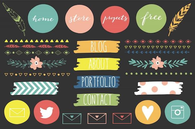 Kit de blog des éléments de design ultimes.