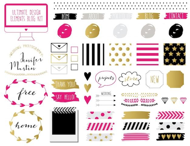 Kit de blog elements.