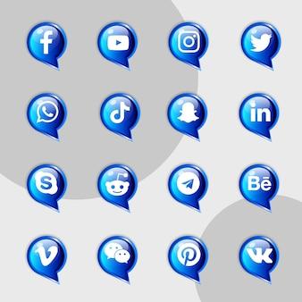 Kit de collection d'icônes de médias sociaux