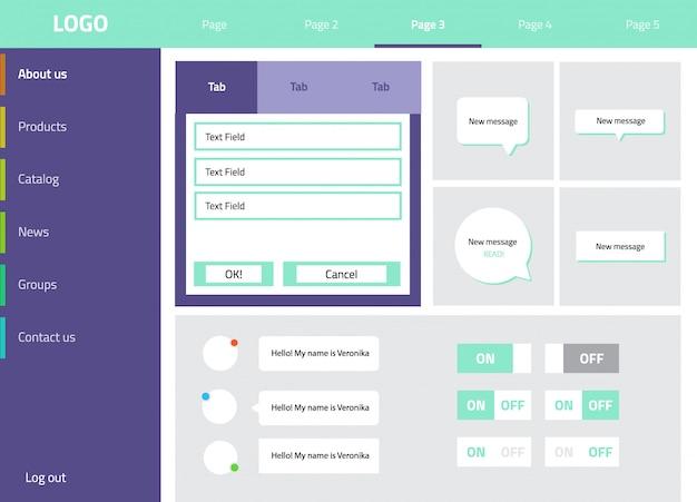 Kit de conception plate d'interface utilisateur moderne